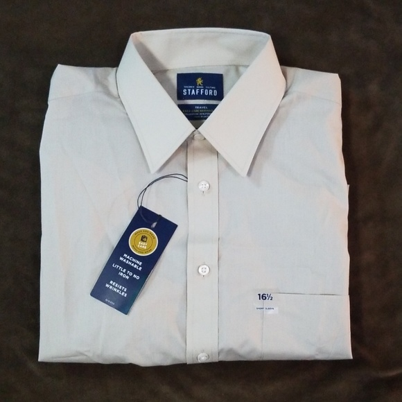 Stafford Other - NWT Stafford Travel SS Button Down Shirt